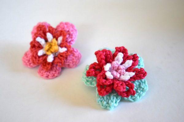 anleitung tutorial blume h keln oder flower crochet en h kelfieber. Black Bedroom Furniture Sets. Home Design Ideas