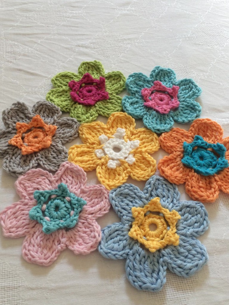 gehäkelte Blumen (2)