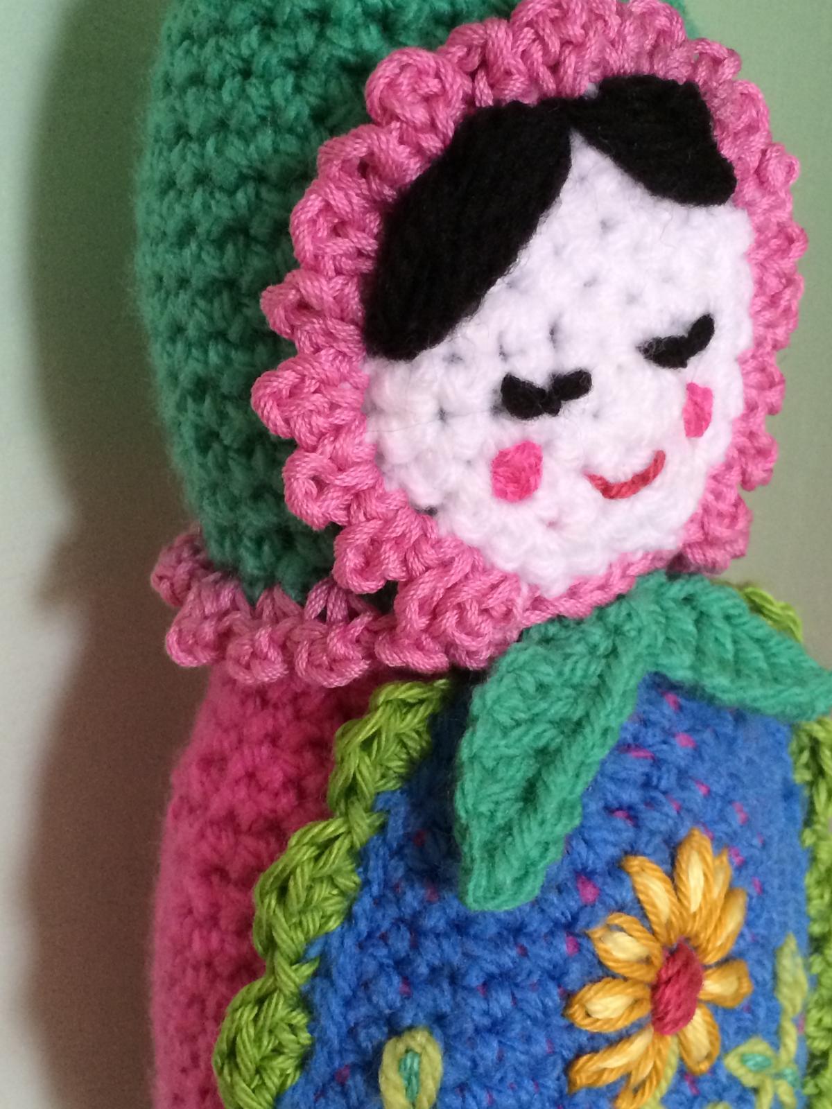 Meine crochet babushka oder gehäkelte Matroschka - Häkelfieber