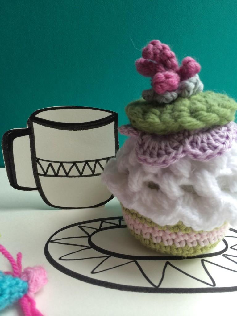 gehäkelter Cupcake