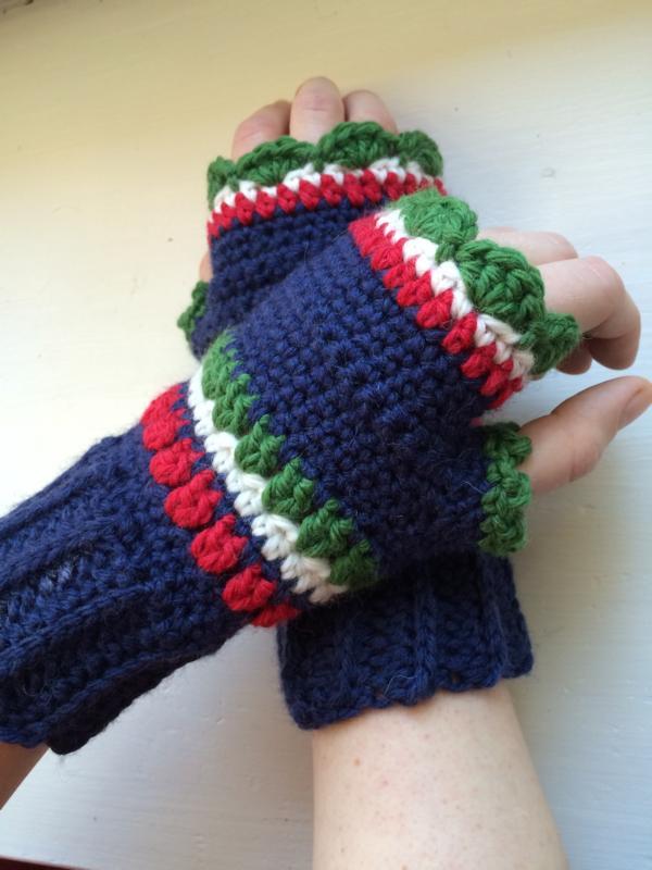 Anleitung: Pulswärmer, Armstulpen, fingerlose Handschuhe häkeln ...