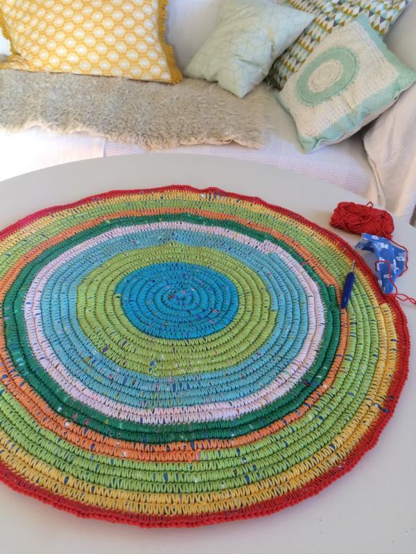 Großprojekt Teppich Häkeln Häkelfieber