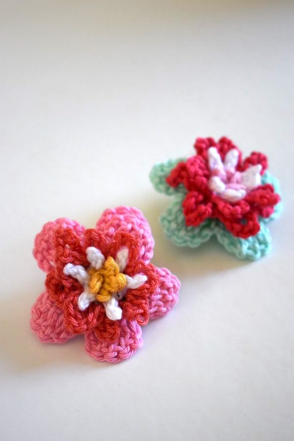Crochet Tutorial Flower Anleitung Blume Haekeln 6 Häkelfieber