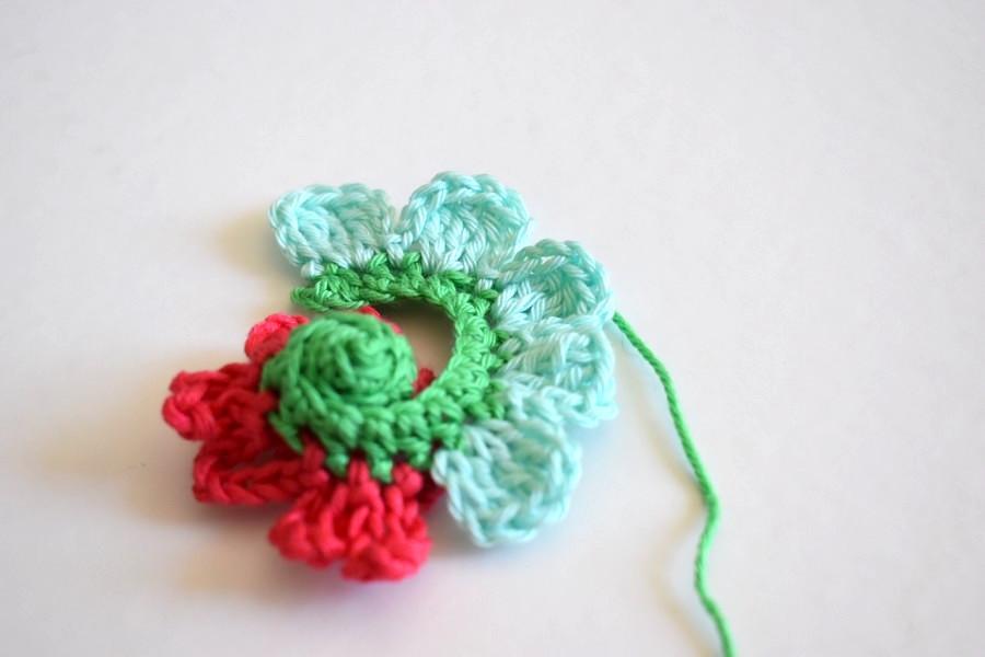 Crochet Tutorial Flower Anleitung Blume Haekeln 9 Häkelfieber
