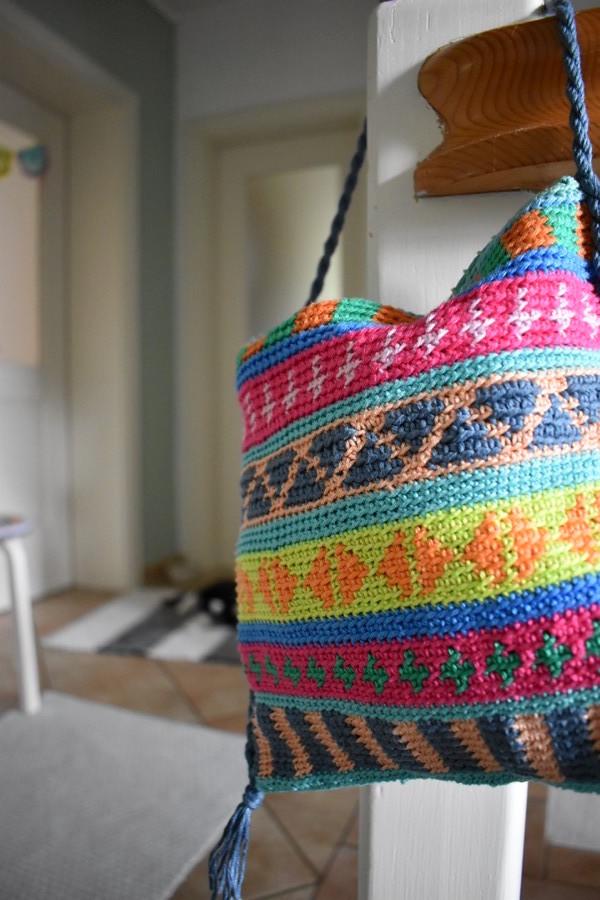 Tasche Boho Tapestry Haekeln Crochet 5 Häkelfieber
